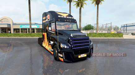 Skin In Flame on tractor Freightliner classic for American Truck Simulator