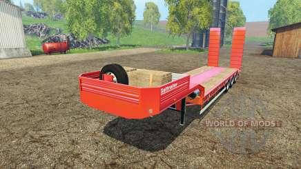 Galtrailer lowboy for Farming Simulator 2015