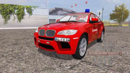 BMW X6 M (Е71) fire Department for Farming Simulator 2013