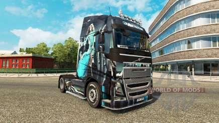Blue Girl skin for Volvo truck for Euro Truck Simulator 2