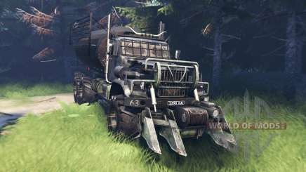 KrAZ 255 Mad Max for Spin Tires