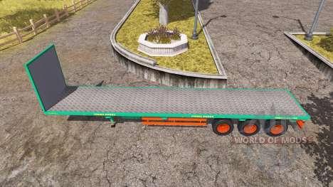 Aguas-Tenias bale semitrailer v2.5 for Farming Simulator 2013