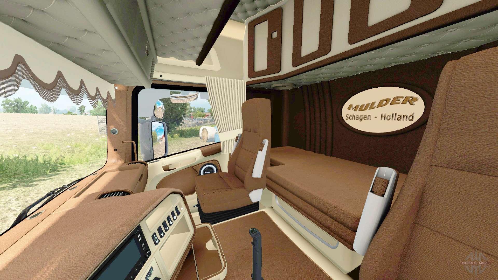 Volvo 40 1 Interior >> Scania R-series V8 Mulder for Euro Truck Simulator 2
