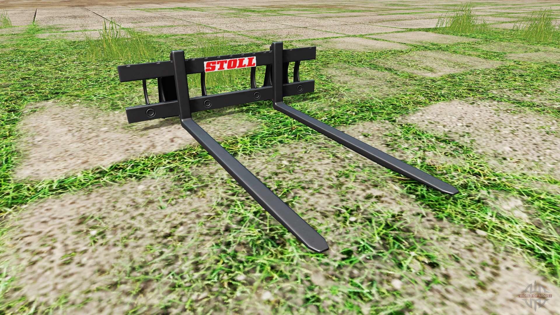 Stoll long pallet fork for Farming Simulator 2017
