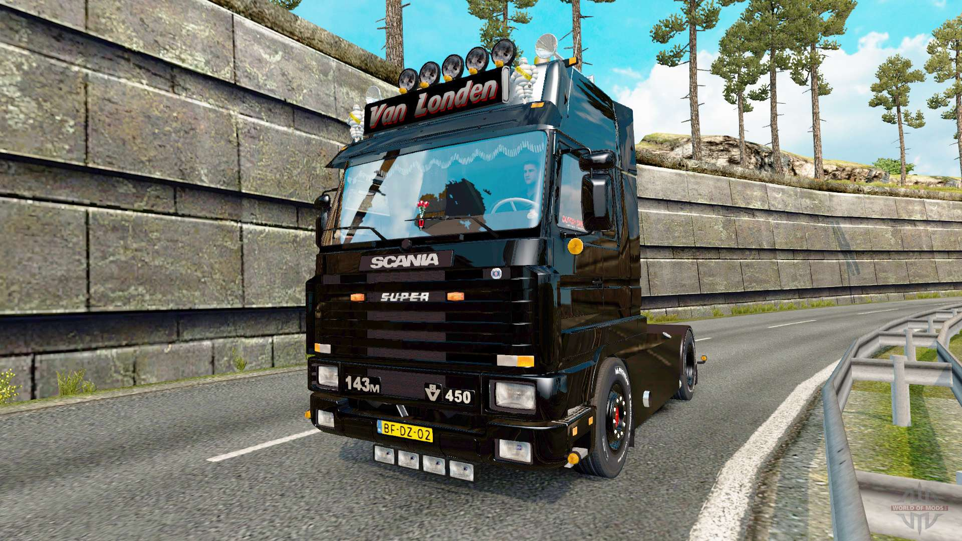 scania 143m 450 van londen for euro truck simulator 2. Black Bedroom Furniture Sets. Home Design Ideas
