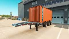The semitrailer-container truck for American Truck Simulator