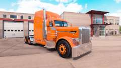 Orange skin for the truck Peterbilt 389 for American Truck Simulator