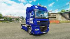 Skin Post of Russia on truck DAF XF
