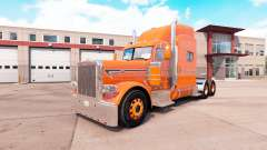 Orange skin for the truck Peterbilt 389 v1.1 for American Truck Simulator