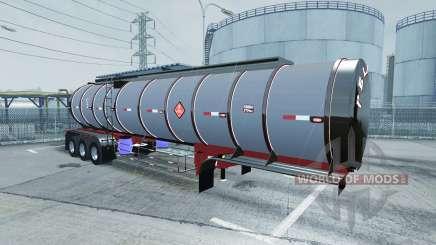 Chrome tanker 3-axle for American Truck Simulator
