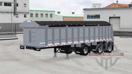 Cobra tri-axle dump trailer for American Truck Simulator