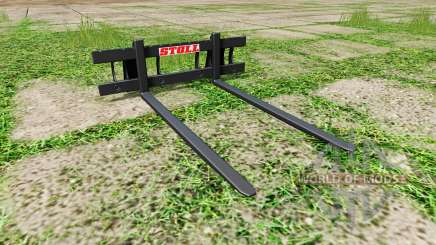 Stoll long pallet fork for Farming Simulator 2017