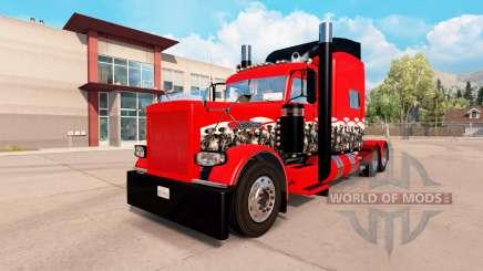 The Wicked Skull skin for the truck Peterbilt 389 for American Truck Simulator