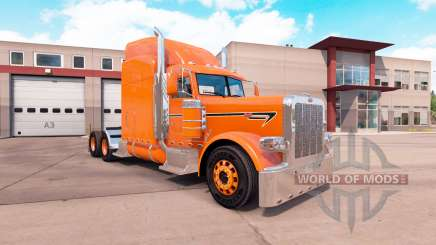 Orange skin for the truck Peterbilt 389 for American Truck Simulator