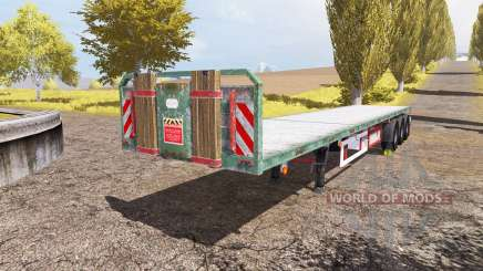 Kogel flatbed trailer for Farming Simulator 2013