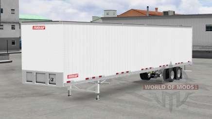 All-metal semi-trailer Fruehauf for American Truck Simulator