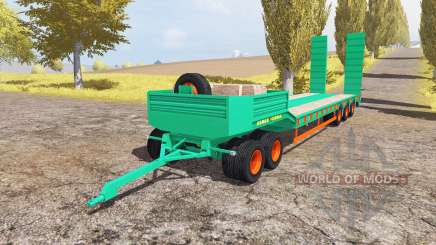 Aguas-Tenias lowboy 5-axis v2.0 for Farming Simulator 2013