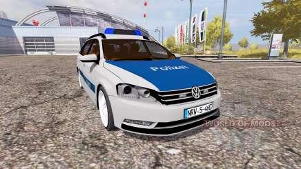 Volkswagen Passat Variant (B7) Polizei for Farming Simulator 2013