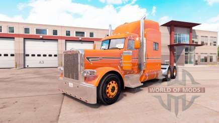 Orange skin for the truck Peterbilt 389 v1.1 for American Truck Simulator
