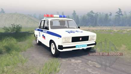 VAZ 2105 Lada DPS for Spin Tires