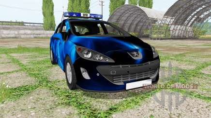 Peugeot 308 (T7) Police blue for Farming Simulator 2017