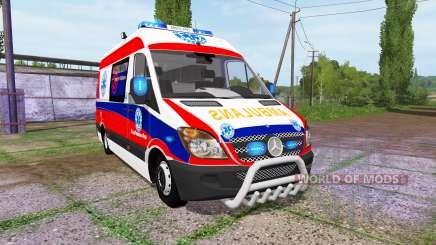Mercedes-Benz Sprinter 311 CDI Ambulance for Farming Simulator 2017