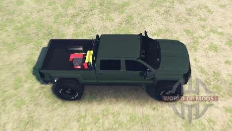 Chevrolet Silverado 3500 HD Crew Cab for Spin Tires