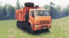 KamAZ 6522 v11.0 for Spin Tires