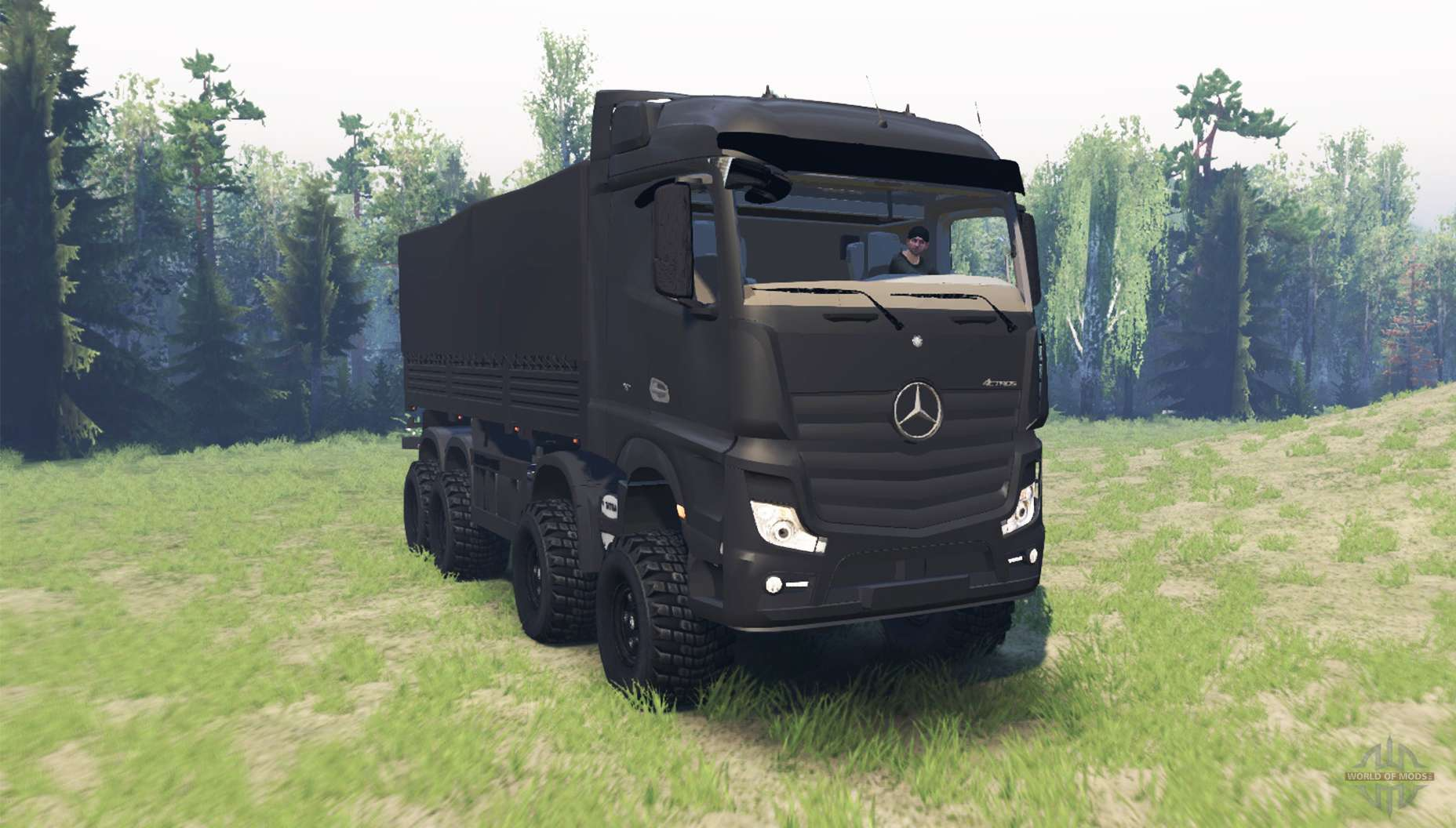 Mercedes benz actros mp4 chassis for spin tires for Mercedes benz astros