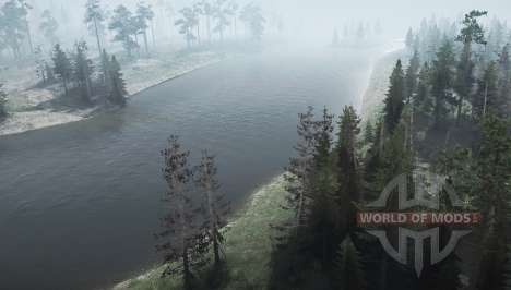Forest road 2 for Spintires MudRunner