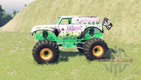 Grave Digger for Spin Tires