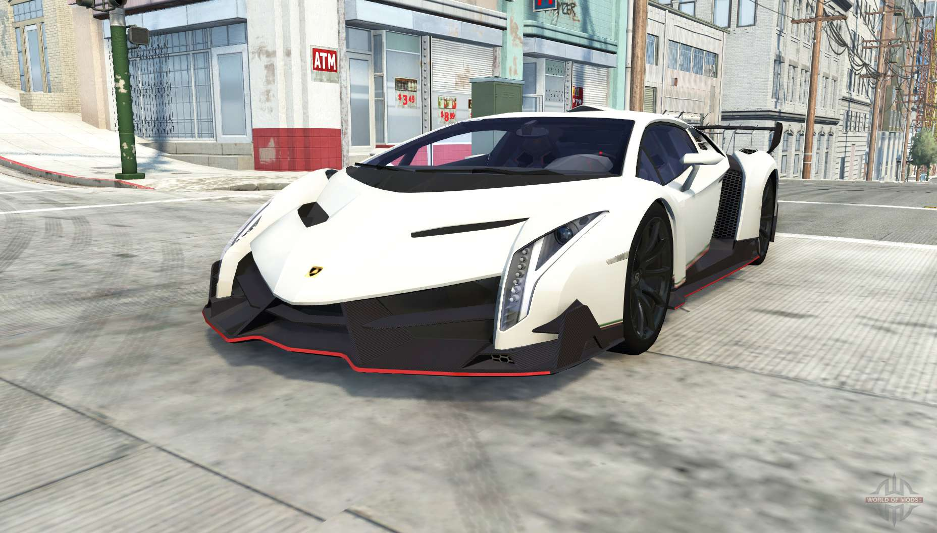 Race Car Driving >> Lamborghini Veneno for BeamNG Drive