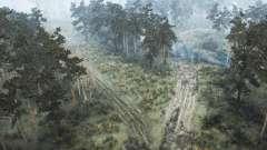 Pine forest for MudRunner