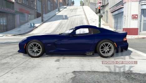 Dodge SRT Viper GTS 2013 for BeamNG Drive