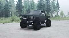 Chevrolet K10 1972 black for MudRunner