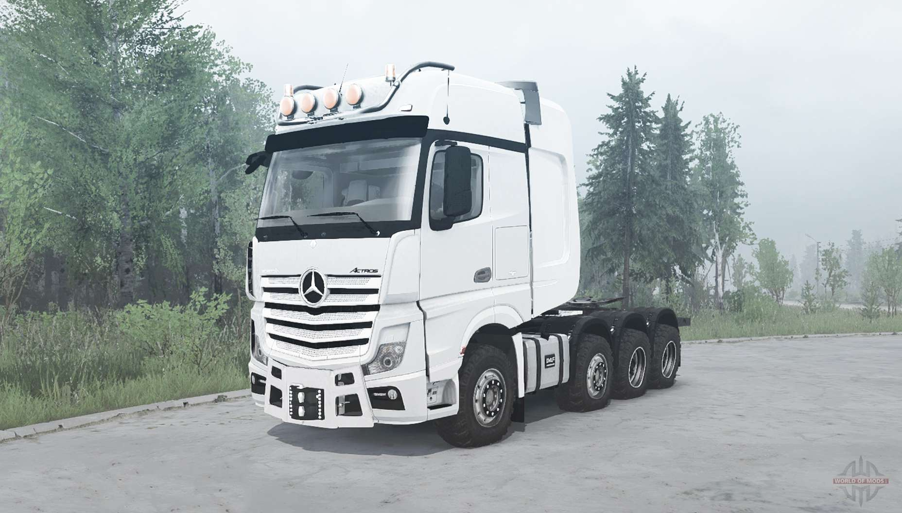 Mercedes benz actros 4163 slt mp4 v1 1 for mudrunner for Mercedes benz astros