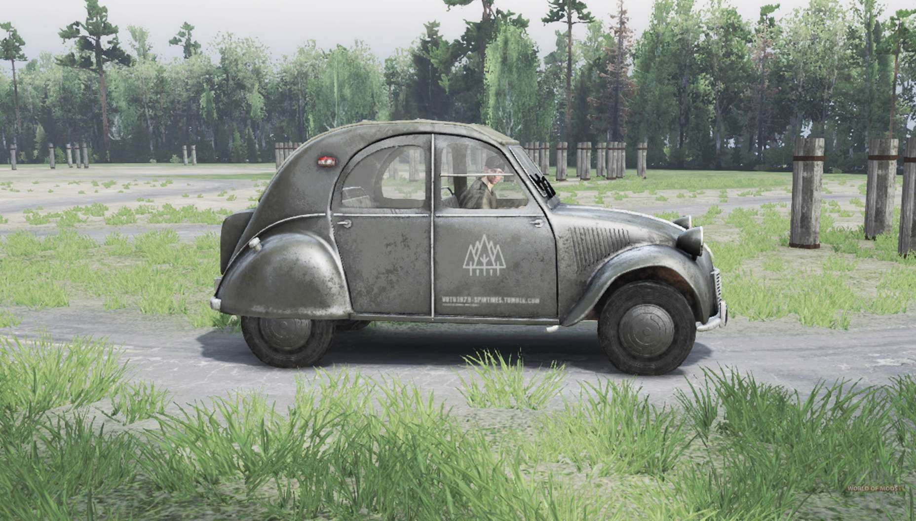 citroen 2cv for spin tires