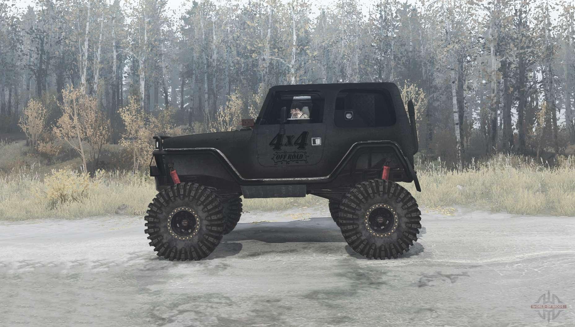 jeep wrangler tj custom  mudrunner
