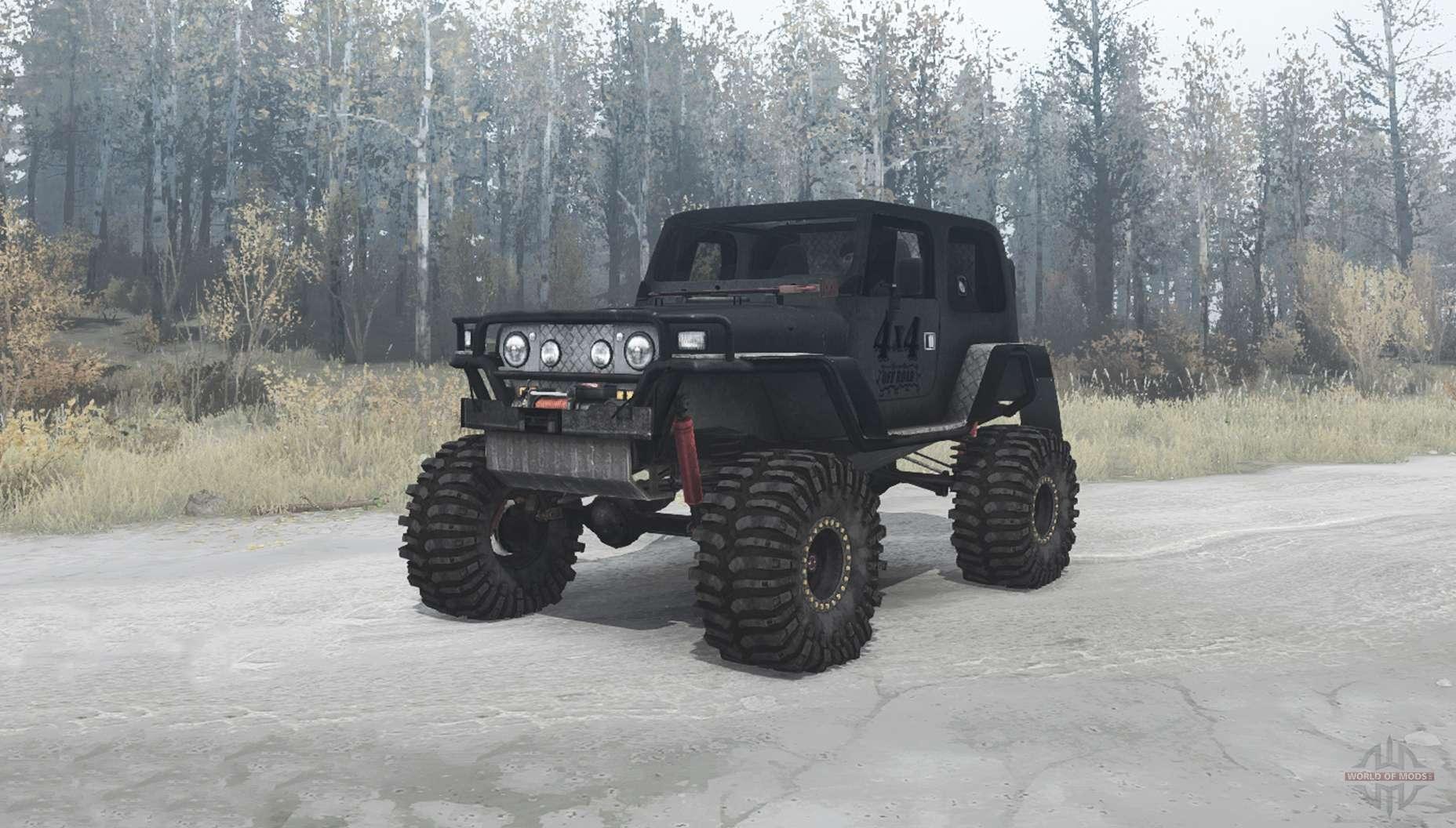 Jeep Wrangler (TJ) custom for MudRunner