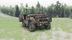 UAZ 469 rusty for Spin Tires