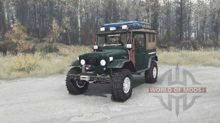 Toyota Land Cruiser 40 Canvas Top (FJ40L) for MudRunner