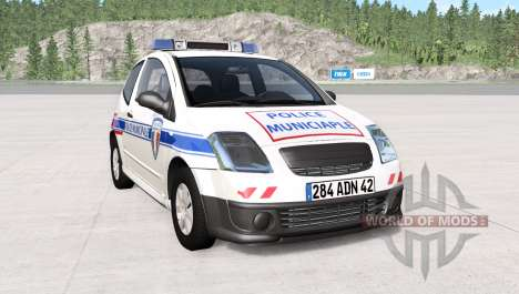 Citroen C2 French Police for BeamNG Drive