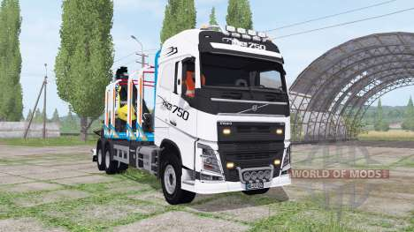 Volvo FH16 750 6x4 Globetrotter Timber Truck for Farming Simulator 2017