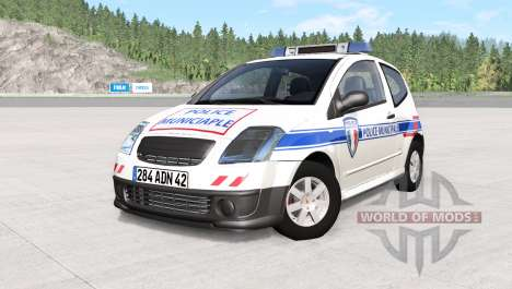 Citroen C2 police skins pack for BeamNG Drive