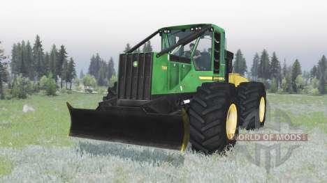 John Deere 748H for Spin Tires