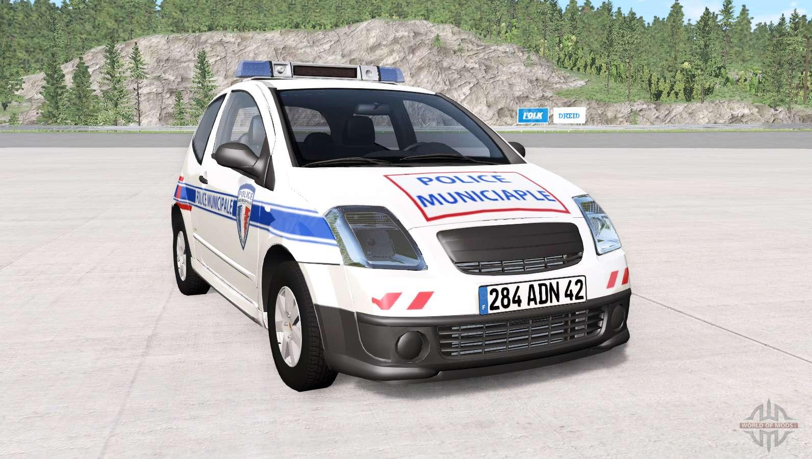 citroen c2 police skins pack for beamng drive. Black Bedroom Furniture Sets. Home Design Ideas