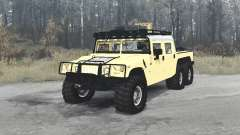 Hummer H1 Alpha 6x6 4-door convertible for MudRunner