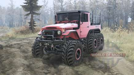 Toyota Land Cruiser 40 6x6 for MudRunner
