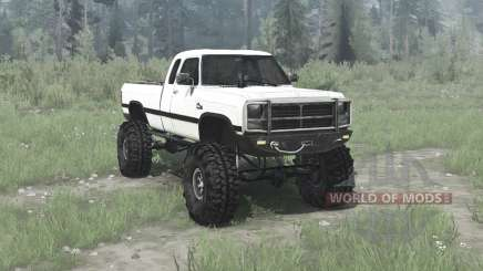 Dodge Power Ram Extended Cab (W250) 1991 for MudRunner