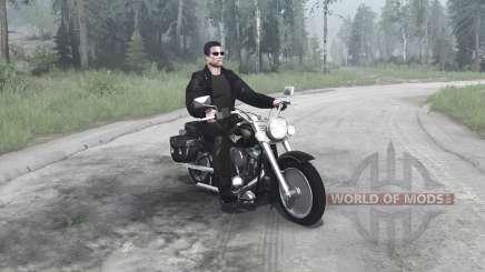 Harley-Davidson FLSTF Fat Boy for MudRunner
